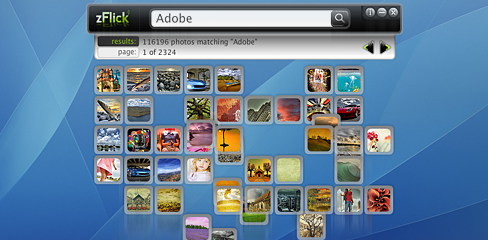 10 applications (App) Adobe AIR for photographers - zflick unique image viewer
