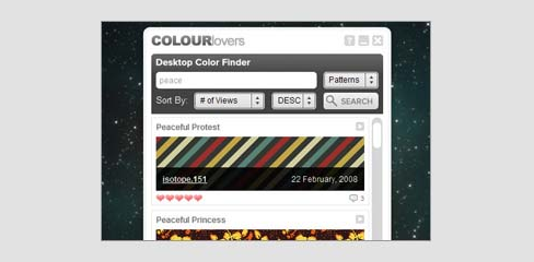 6 приложений Adobe AIR для дизайнеров - COLOURlovers Desktop Color Finder