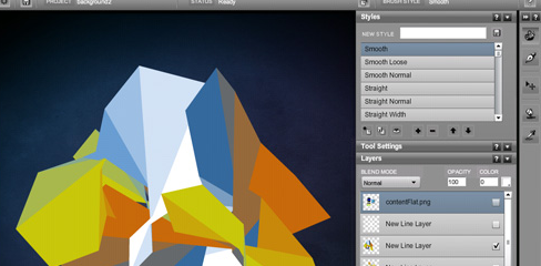 6 Adobe AIR applications (App) for designers - Livebrush