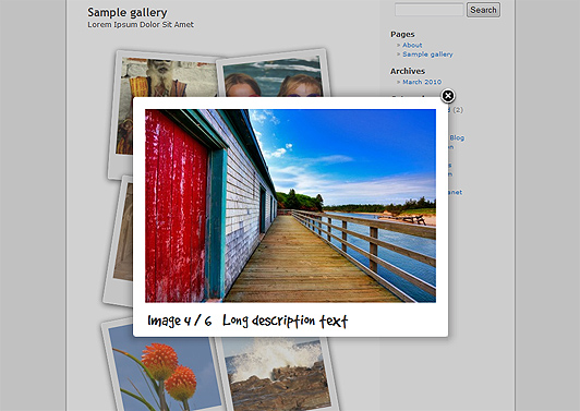 5 WordPress jQuery Gallery - Polaroid Gallery
