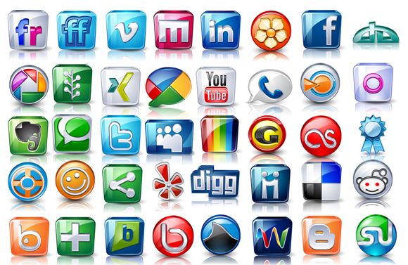 Social icons - High detail