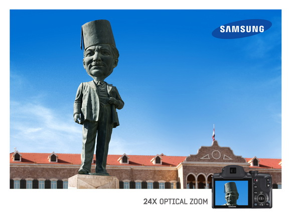 Samsung: Optical Zoom, Statue - статуя