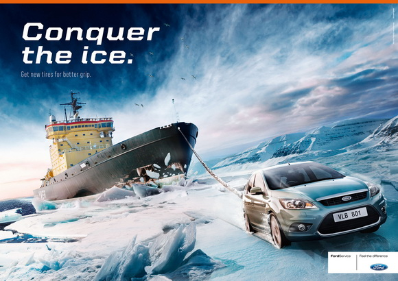 Ford: Conquer the ice - преодоление льда