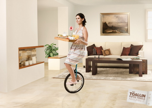 Don Toallín Paper Towels: Unicycle